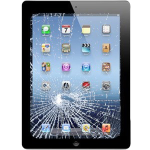 iPad with Cracked Screen